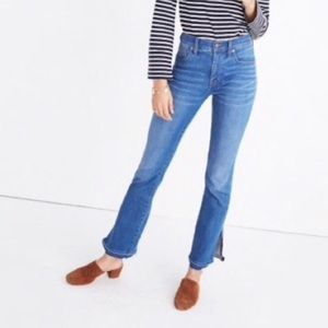 Madewell Side Slit Cali Demi Bootcut Jeans